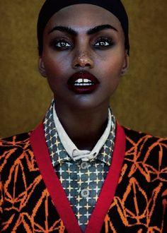 driflloon:  Pattern Clash : Milan Dixon by  Daniella Midenge  for Elle South Africa April 2015