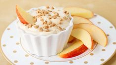 A light and creamy caramel dip that pairs nicely with sliced apples.