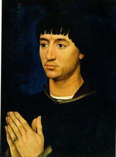 ок.1460.Жан де Гро,секретарь Филиппа Доброго.Неизв.мастер.Масло,дубовая доска.Инс-т искусства,Чикаго.