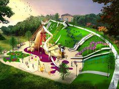 new custom frog playground manufacturer Playground Set, Playground Design, Outdoor Playground, Architecture Mapping, Landscape Architecture, Landscape Design, Outdoor Fun For Kids, Children Sketch, Dubai