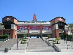 Tempe Diablo Stadium- the Angels spring training facility in AZ!