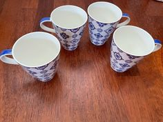 4stk ubrukte Villeroy & Boch Indigo Caro Coffee Mug, 350 ml | FINN.no Fine Porcelain, Indigo, Coffee Mugs, Tableware, Dinnerware, Indigo Dye, Coffee Cups, Tablewares, Dishes