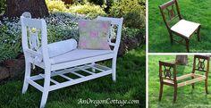 Nápady ako vyrobiť zo starých stoličiek lavičku | DIY návody 012