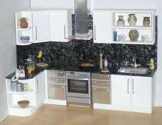 White doll house kitchen 1/12th   Flickr - Photo Sharing!
