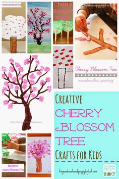 Creative Cherry Blossom Tree Crafts for Kids - FSPDT