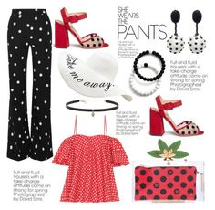 """Polka Dotty"" by hastypudding ❤ liked on Polyvore featuring Charlotte Olympia, Anna October, Monse, Zimmermann, Oscar de la Renta, Carbon & Hyde, Lokai, contest, polyvorecommunity and fashionset"
