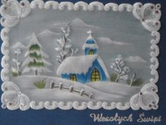 Boże Narodzenie 2014. Rysunek kredką akwarelową, wzór z internetu.