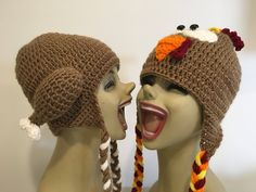 Turkey Trot crochet ear flap hat random listing by rosemarysbabymek on Etsy https://www.etsy.com/listing/567671599/turkey-trot-crochet-ear-flap-hat-random
