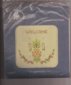 Pond Memories Double Pineapple Switchplate Counted Cross Stitch Kit SP20 #Pondmemories #SwitchPlateCover