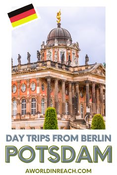 Take a break from exploring Berlin by going on one of these incredible day trips from Berlin! Take a day trip from Berlin to Potsdam, Germany, home to beautiful palaces and the gorgeous Sanssouci Park. / hidden day trips from Berlin Germany / things to do in Berlin / what to do in Berlin / bucket list locations in Berlin / perfect day trips outside of Berlin / tips and tricks for Berlin travelers / things to do in Potsdam / day trip to Potsdam from Berlin / where to go in Germany / Berlin travel Travel Around Europe, Europe Travel Guide, France Travel, Travel Around The World, Travel Destinations, Holidays Germany, Holidays France, Cities In Germany, Germany Travel