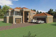 Modern-5-Bedroom-Double-Story-House-Floor-Plans_Front-Garage-View_Plandeluxe