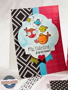 Petits_valentins_la_magie_des_etampes_2 Etampes, Stampin Up, Valentines Day, Valentine Cards, Creations, Playing Cards, Crafts, Card Ideas, Valentine's Day Diy