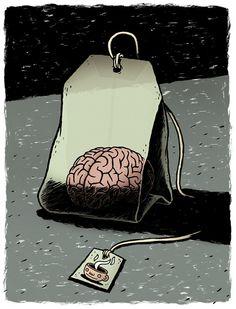 Michael Hacker illustration - Earl Grey Matter