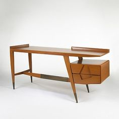 In the late Joe Singer of Singer & Sons discovered the works of Italian designer and architect Gio Ponti. The two struck up a deal that would result in the introduction of Pontis designs to the American market. Retro Furniture, Mid Century Modern Furniture, Mid Century Modern Design, Furniture Design, Unique Wood Furniture, Furniture Stencil, Futuristic Furniture, Modular Furniture, Furniture Removal