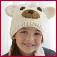 Polar Bear Hat in Red Heart With Love Solids - Discover more Patterns by Red Heart Yarns at LoveCrafts. From knitting & crochet yarn and patterns to embroidery & cross stitch supplies! Shop all the craft materials you need to start your next project. Knitting Designs, Knitting Patterns Free, Free Knitting, Knitting Projects, Baby Knitting, Free Pattern, Hat Patterns, Knitting Ideas, Crochet Patterns