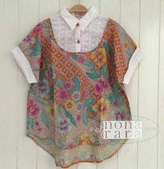 70 Ideas Sewing Women Clothes Chinese For 2019 Blouse Batik, Batik Dress, Dress Neck Designs, Kurti Neck Designs, Sewing Clothes Women, Clothes For Women, Batik Kebaya, Batik Fashion, African Fashion Dresses