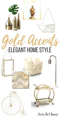 Find gorgeous gold home accents and accessories for your decor. These are some of my favorite gold home decor pieces, all at very affordable rates. diy home accents Gold Home Accents for Elegant Home Style Gold Home Decor, Elegant Home Decor, Affordable Home Decor, Elegant Homes, Unique Home Decor, Home Decor Styles, Home Decor Accessories, Cheap Home Decor, Modern Decor