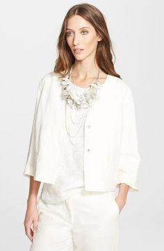 Fabiana Filippi Linen Blend Jacket available at #Nordstrom