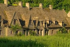 Medieval almshouses of Arlington Row, at Bibury, Gloucestershire Cotswolds