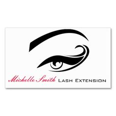 Eye with long lashes Lash Extension  business card Business Cards