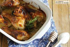 Receta de pollo asado con miel y mostaza. receta con fotos del paso a paso y la degustación. Trucos y consejos de elaboración. Recetas de carnes...