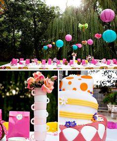 """Alice in Wonderland"" Inspired Birthday Party"