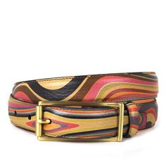 Paul Smith Accessories Womens Small Swirl Leather Jeans Belt