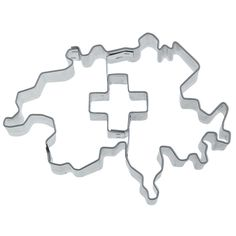 This Swiss Landscape Cookie cutter with a swiss cross in the middle is perfect to bake some swiss national cookies for the 1st of August. The swiss shaped Cookie cutter with a swiss cross imprint measures 9cm. Easily make swiss landscape shaped biscuits with a swiss cross stamp with this Cookie cutter.