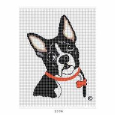 COZYCONCEPTS BOSTON TERRIER CROCHET PATTERN AFGHAN GRAPH CROSS STITCH .PDF EMAILED by cozyconcepts