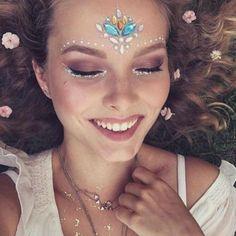 9c578fd6e44 Adesiva Rosto Gemas Strass Jóias Festival Festa Glitter Corpo Tatuagem  Temporária Adesivos Tatuagens Temporárias de Flash