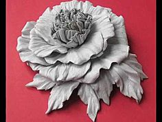 ▶ Leather flowers - YouTube amazing leather flowers