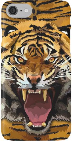 Tiger Roar Digital art Painting iPhone Cases & Skins #Case #CellPhone #iPhonecase #hardcase #plasticcase #flexible #slimcase #solidprotection  #abstract #lion #tiger #cat #bigcat #fur #beautiful #animal #aztec #jungle #puma #tarzan #pattern #gryffindor #narnia #stipes #tigerstripes #skins