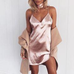 Silk Dress | Dusty Pink WWW.MURABOUTIQUE.COM.AU #muraboutique