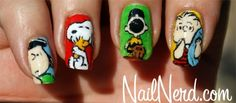 Peanuts Nails by leanne