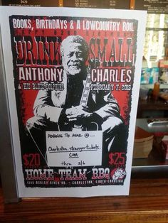Happy Birthday to South Carolina's Blues Doctor-Drink Small-a Birthday Party for Drink in Charleston,SC Feb.7-15 Low Country Biol & Home Town BarBeQue... Thanx for using my pic of Drink In this flyer.  Cassie J. Fox Photos