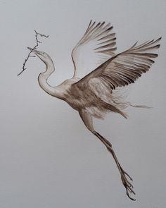 Akvarell kép, akvarel picture Bird, Animals, Animales, Animaux, Birds, Animal, Animais