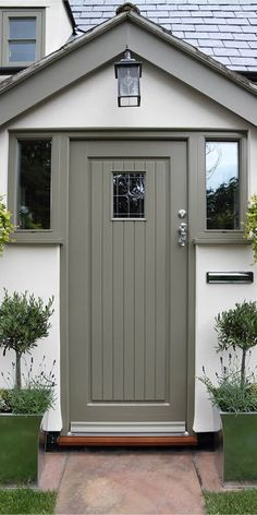 Specialising in timber windows and doors Our timber entrance doors all have maximum protection with minimal maintenance, thanks to their micro-porous coatings. Cottage Front Doors, House Front Porch, Cottage Porch, Porch Doors, Front Porch Design, House Entrance, Entrance Doors, Enclosed Front Porches, Cottage Windows