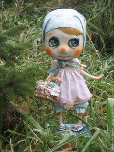 Коллекционные куклы ручной работы. Ярмарка Мастеров - ручная работа. Купить ангел. Handmade. Бирюзовый, Папье-маше, бумага
