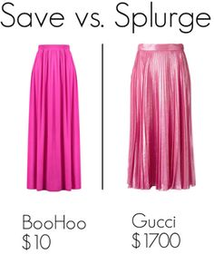 Save vs. Splurge: Gucci pleated skirt