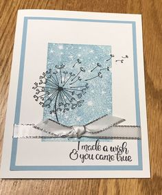 Stampin' Up Dandelion Wishes Homemade Greeting Cards, Homemade Cards, Dandelion Wish, Christmas Card Crafts, Stamping Up Cards, Get Well Cards, Handmade Birthday Cards, Sympathy Cards, Flower Cards