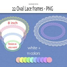 Lace digital clipart labels or frames and by ValerianeDigital, $2.50