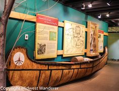 Isle a la Cache Museum just off Route 66 in Romeoville, Illinois, focuses on voyageurs, Native Americans and the fur trade.