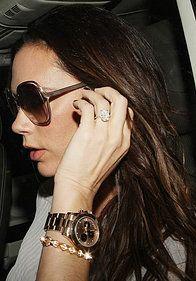 VICTORIA BECKHAM with her Rolex Daytona Pink Index Dial 18k Rose Gold Oyster Bracelet