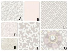 Crib bedding inTaupe Fabrics-Choose from many different ordering options listed in description on Etsy, $133.00