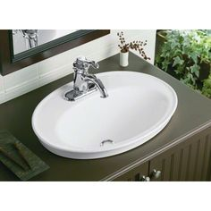Found it at Wayfair - Serif Drop-In Bathroom Sink with Single Faucet Hole
