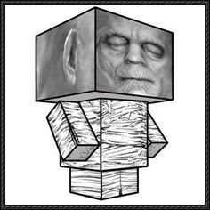 The Mummy Cube Craft Free Paper Toy Download