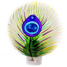 Peacock Feather Nightlight http://shop.crackerbarrel.com/Peacock-Feather-Nightlight/dp/B00IS781R6