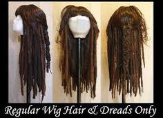 hair and dreads Diy Costumes, Halloween Costumes, Jack Sparrow Costume, Captain Jack Sparrow, Wigs, Dreadlocks, Hair Styles, Beauty, Johnny Depp