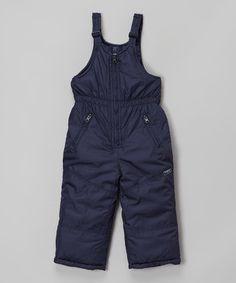 Look what I found on #zulily! Navy Ski Bib Pants - Toddler & Girls #zulilyfinds
