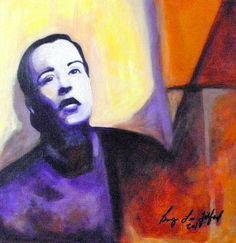 """Lady Day"" Acrylic on Canvas Board. Bryan Lee Tilford"